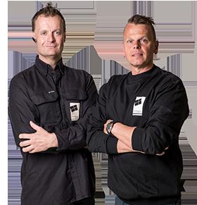 John og Niels - ejere af Westerlund & Wølk Transport